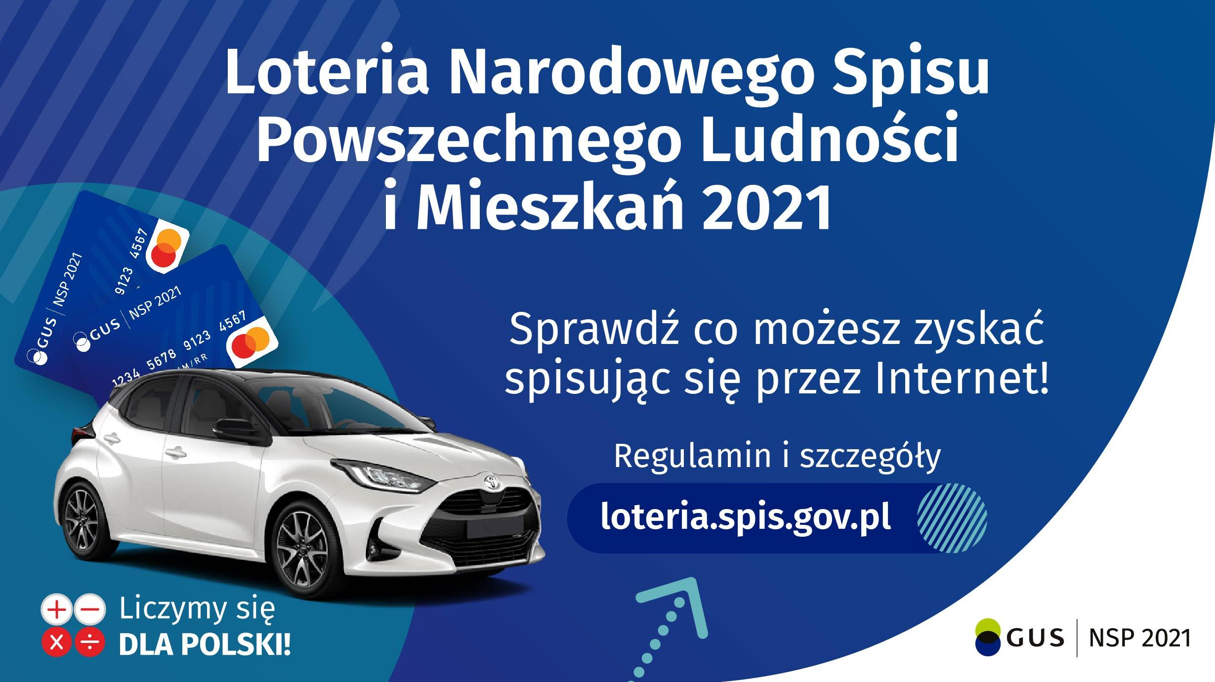 Informacje o loterii Narodowego Spisu Powszechnego 2021