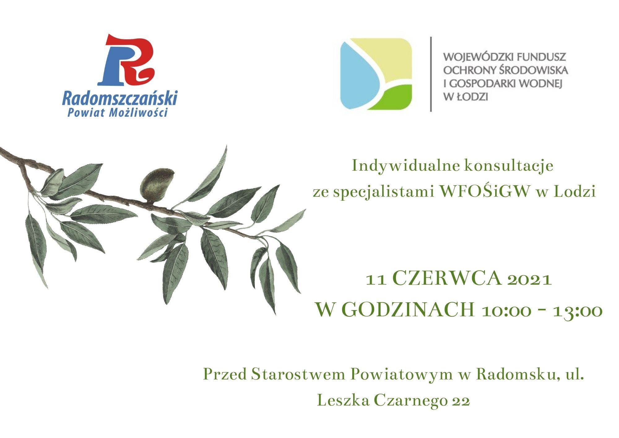 Indywidualne konsultacje ze specjalistami WFOŚiGW w Łodzi