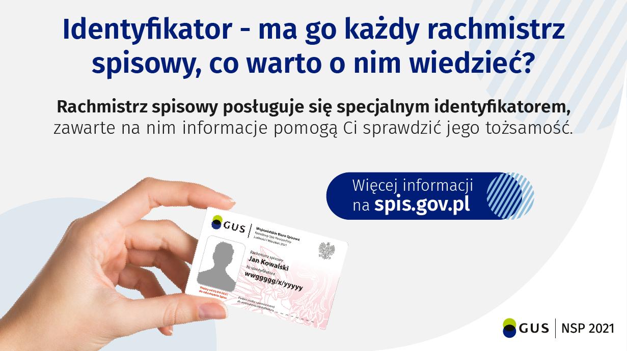 Informacja o identyfikatorze rachmistrza spisowego
