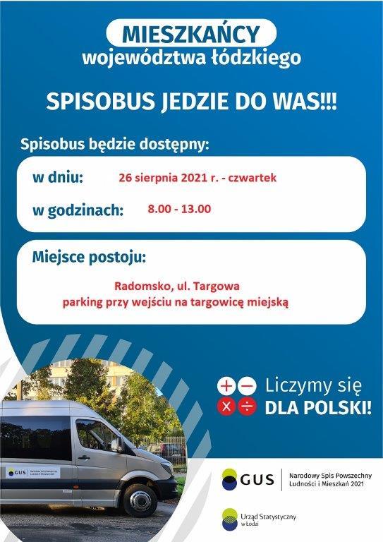 Informacja o wizycie spisobusu 26 sierpnia 2021 r.