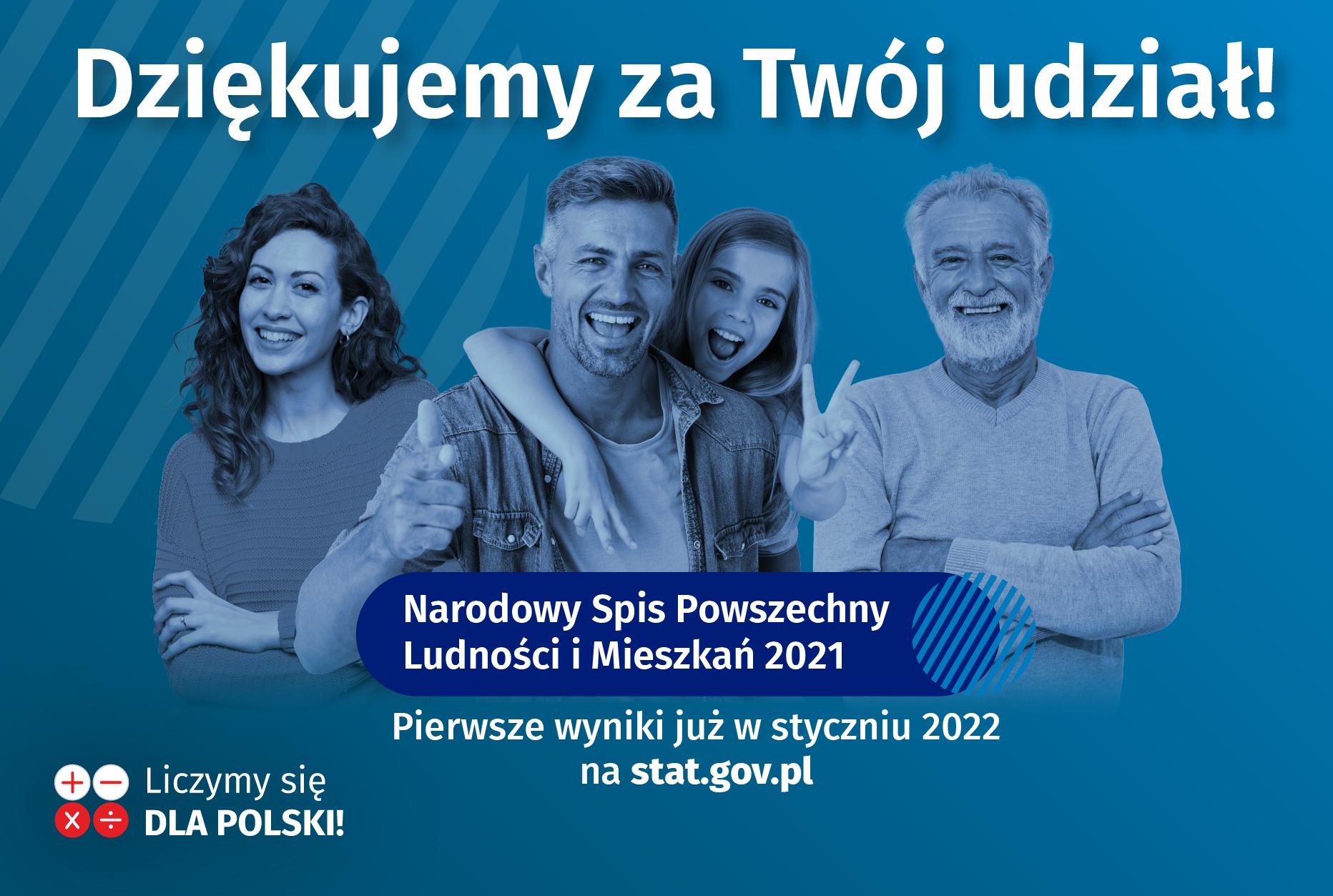 Podziękowania od GUS za udział w NSP 2021
